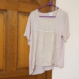 Knox Rose XL Square crocheted  short sleeve top